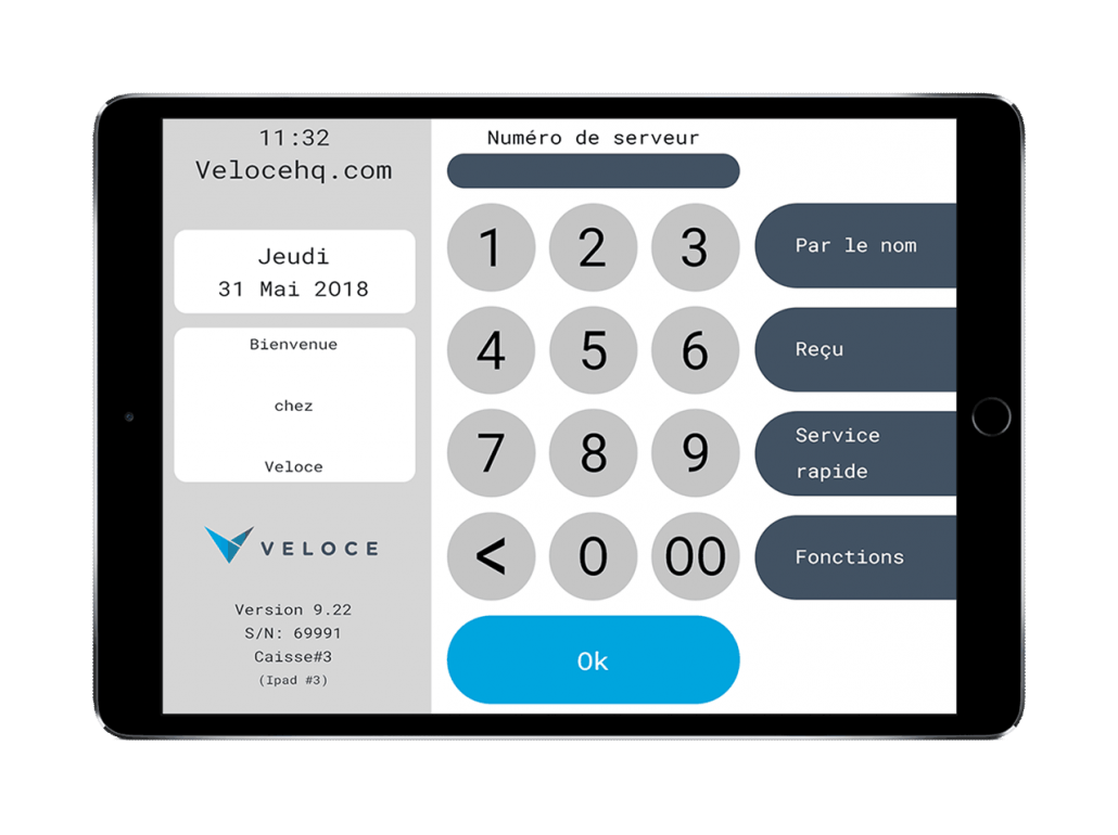 iPad with Veloce point of sale software